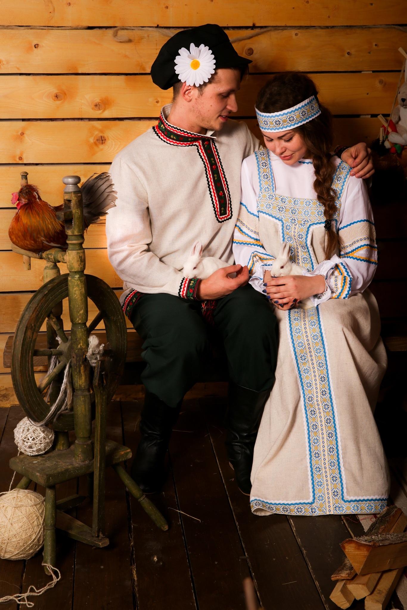 Русский мужской костюм Богатырь с костюмом Молочные реки
