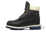 Ботинки Мужские Timberland 10061 Waterproof Navy Leather с Мехом