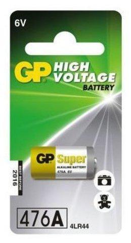Батарейки GP 476A-U1 Alkaline 4LR44, 544, PX28A, 6V блистер