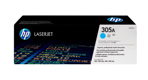 Оригинальный картридж HP CE411A (№305A), голубой