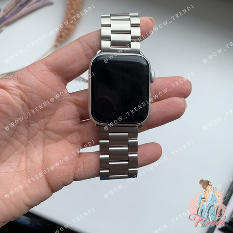 Ремешок Apple watch 38mm Metall old 3-bead /silver/