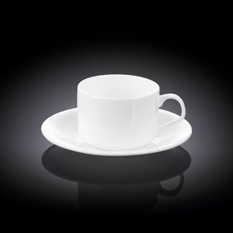Чашка чайная + блюдце 160 мл Wilmax (WL-993006/AB)
