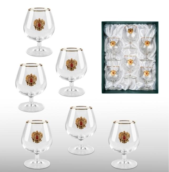 Набор бокалов для коньяка «Золотой запас» набор бокалов для коньяка гусь хрустальный греческий узор