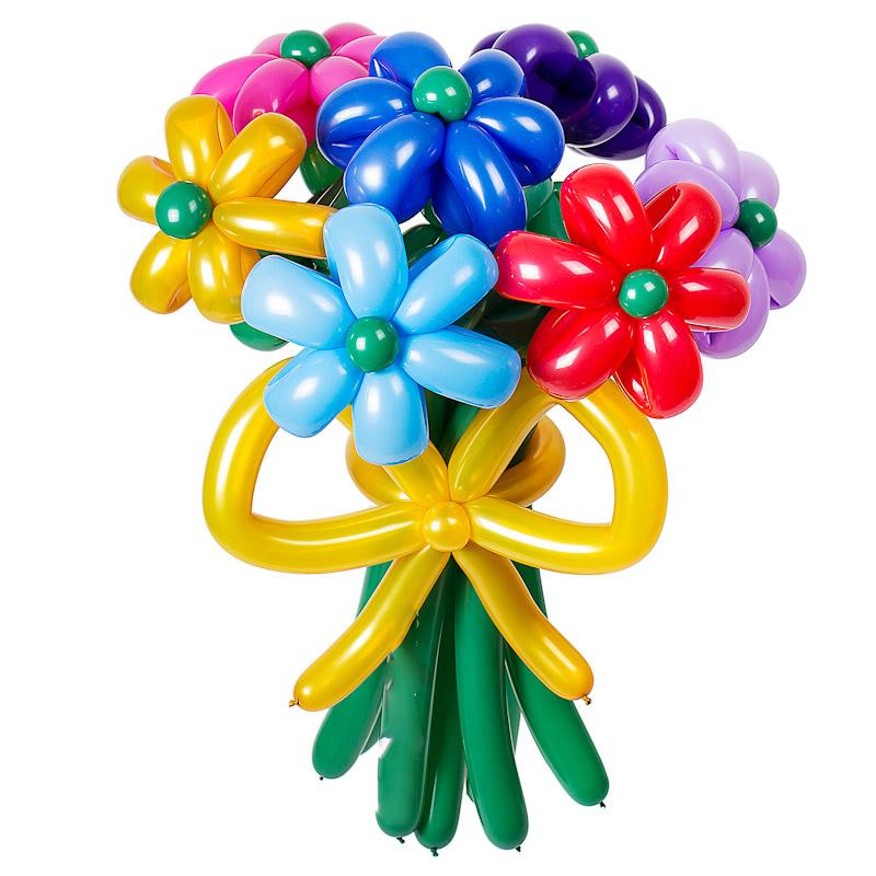 Шарики на Юбилей Ромашки из воздушных шаров 107.jpg