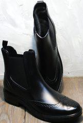 Купить резиновые ботинки женские теплые W9072Black.