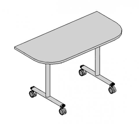 Стол приставной Click полукруглый