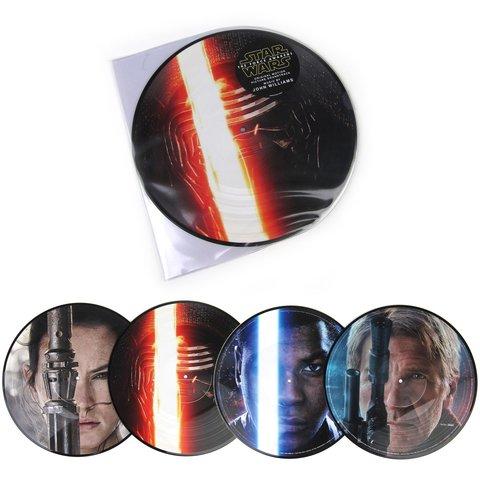 Комплект из 2-х виниловых пластинок.  John Williams: Star Wars - The Force Awakens Soundtrack (Pic Disc) Vinyl 2LP
