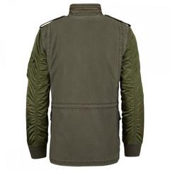 Куртка Alpha Industries Fusion field coat olive (Зеленая)