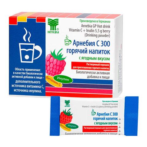 Арнебия С 300 горячий напиток с ягодным вкусом, 10 пакетиков по 5,5 гр