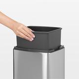Прямоугольный мусорный бак Touch Bin (10 л, артикул 477225, производитель - Brabantia, фото 7