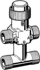 Клапан 3-ходовой зональный Schneider Electric с байпасом VZ42-G1/2-0,25