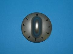 ручка плиты Gorenje серебристая с цифрами от 0 до 9 (629334)