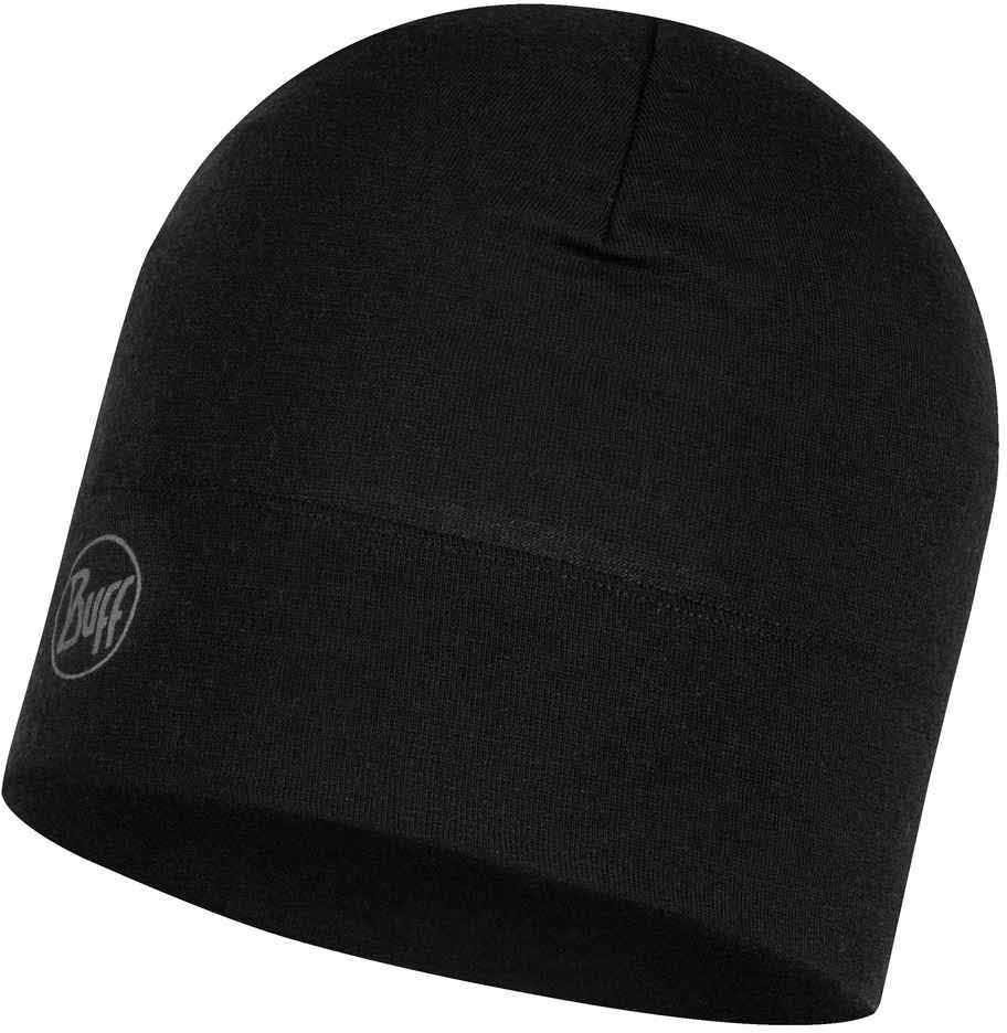 Шерстяные шапки Шерстяная шапка 250 гр/м Buff Hat Wool Midweight Solid Black 118006.999.10.00.jpg