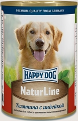 Консервы для собак Happy Dog NaturLine, телятина с индейкой