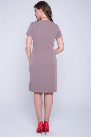 """<p>Элегантное классическое платье полуприталенного силуэта. По спинке - замок"""" Рукав короткий. (Цветок в стоимость не входит).</p>"""