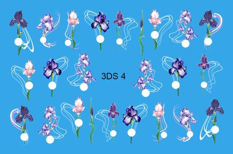 3D слайдер для ногтей со стразами, 3DS- 4