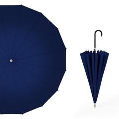 Японский зонт трость 16 спиц AKSISUR синий