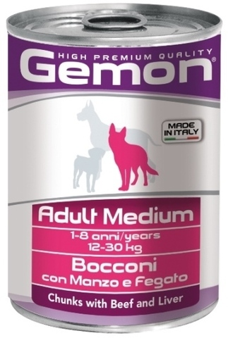 Gemon Dog Medium Adult Chunkies with Beef & Liver