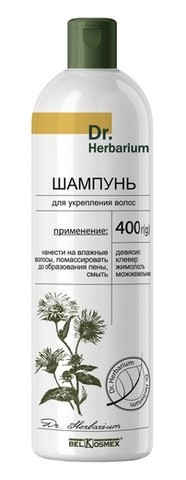 BelKosmex Dr.Herbarium Шампунь для укрепления волос 400г