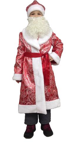Костюм Дед Мороз подростковый парчовый