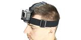 Крепление на голову + клипса на одежду GoPro Headstrap + QuickClip (ACHOM-001) на голове вид сбоку
