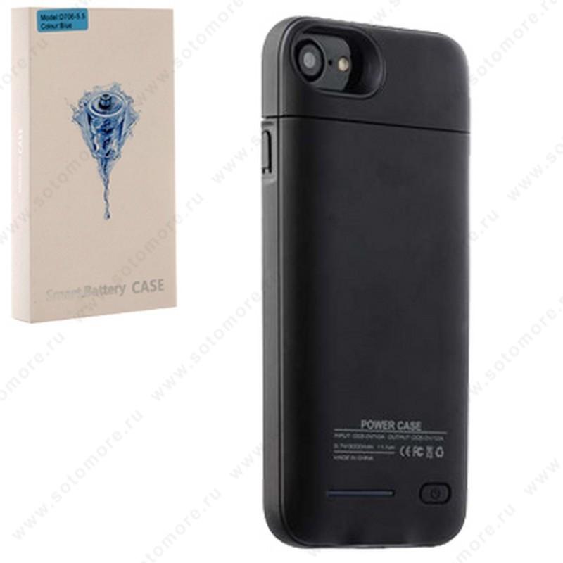 Аккумулятор чехол для Apple iPhone 8 Plus/ 7 Plus 3000 мАч 1.0A D714 черный
