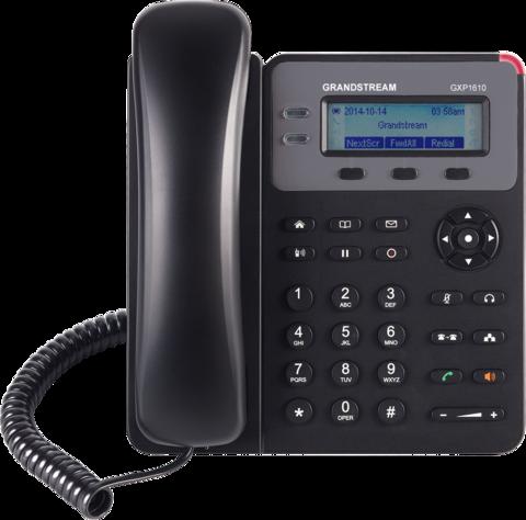Grandstream GXP1610 (без POE) - IP телефон. 1 SIP аккаунт, 2 линии, нет подсветки экрана