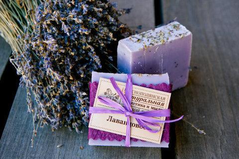 Органическое мыло Лавандовое
