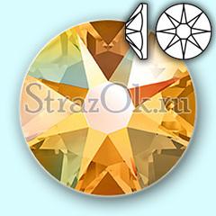Купить золотые, золотистые стразы Xirius 8+8 Topaz  AB