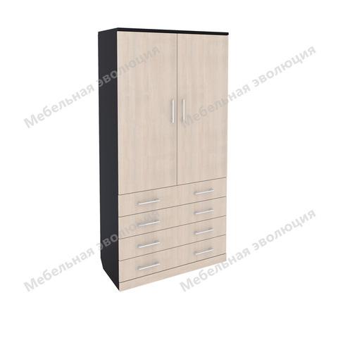 Шкаф с выдвижными ящиками, штангой и полками, Эволюция