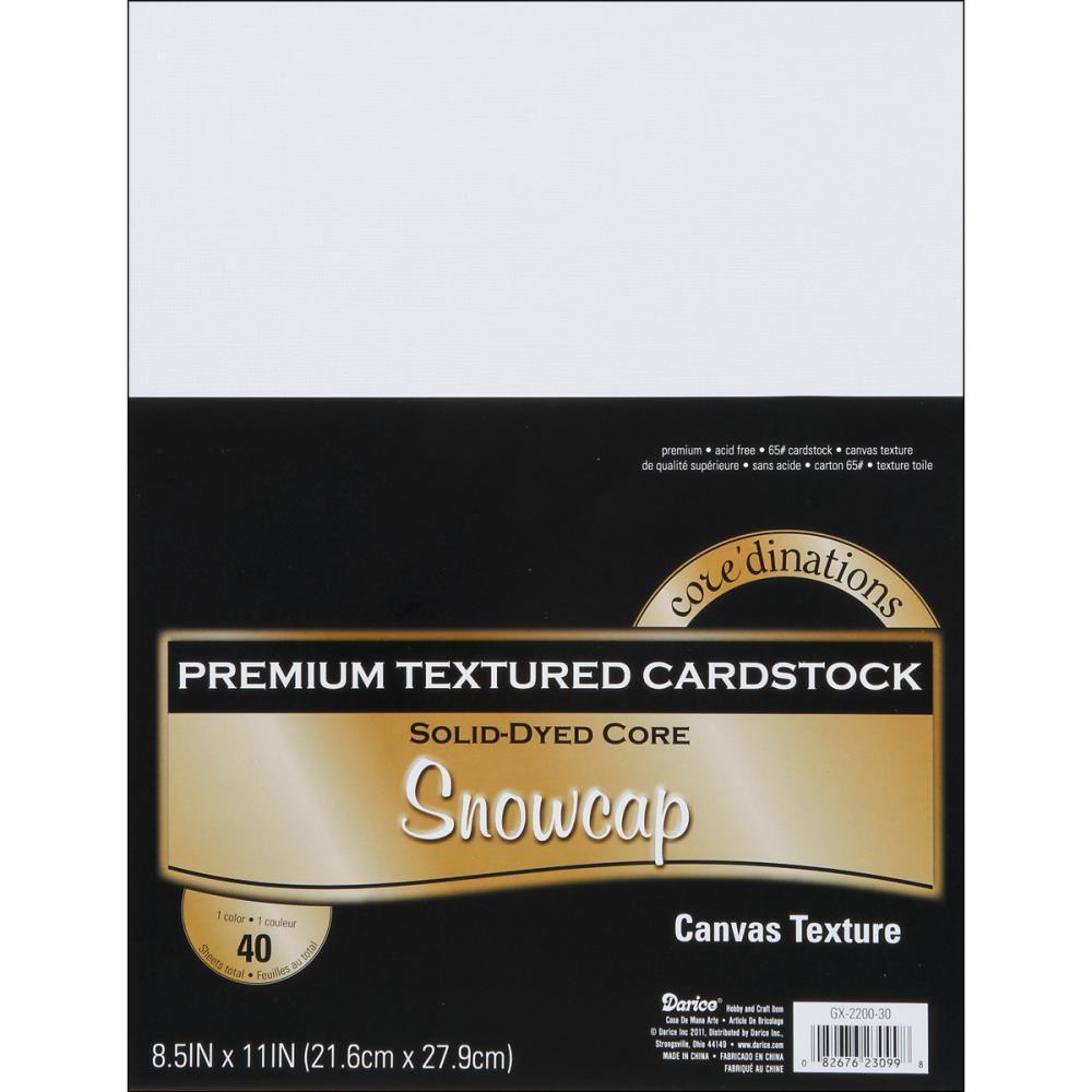 Набор кардстока А4. Core'dinations Value Pack Canvas Cardstock    - Snowcap
