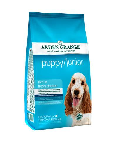 Arden Grange Puppy/Junior сухой корм для щенков и молодых собак с Курицей 2 кг