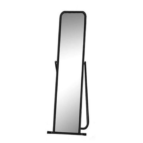 Зеркало напольное 4М-E (черный муар), 440х430х1430H, зеркальное полотно 1275х321х3мм