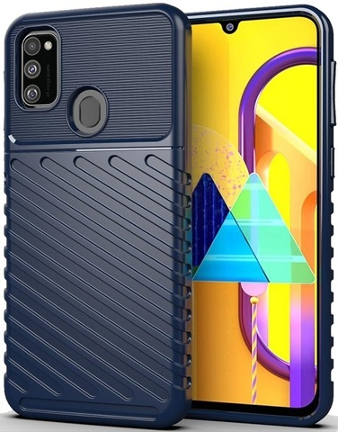 Чехол Samsung Galaxy M30S цвет Blue (синий), серия Onyx, Caseport