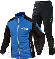 Утеплённый лыжный костюм RAY Pro Race WS Blue-Black 2018 мужской