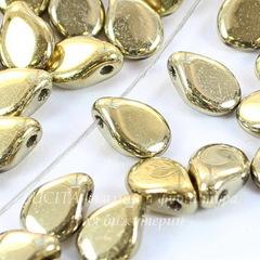 Бусина Pip Лепесток, 7х5 мм, золотая