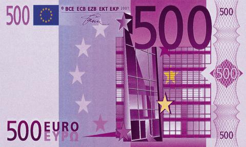 Печать на вафельной бумаге, Купюра 500 Евро