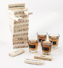 Настольная игра Пьяная башня, Drunken Jenga, фото 1