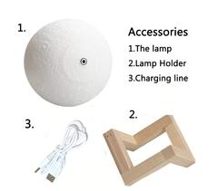 декоративная лампа в гостиную луна 3D шар светильник