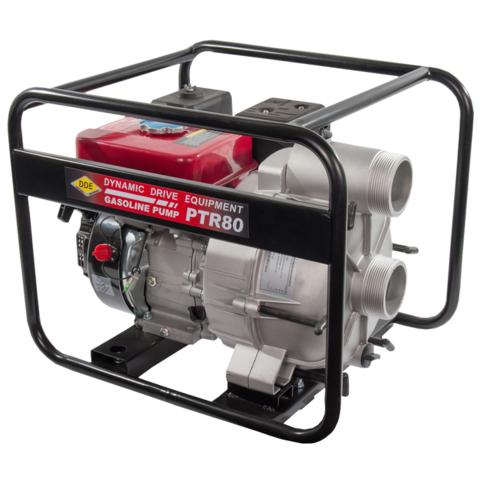 Мотопомпа бензиновая грязевая DDE PTR80  (вых 80 мм, 5.5 л.c,26м,1080л/мин, 3,6л,43кг) (PTR80)