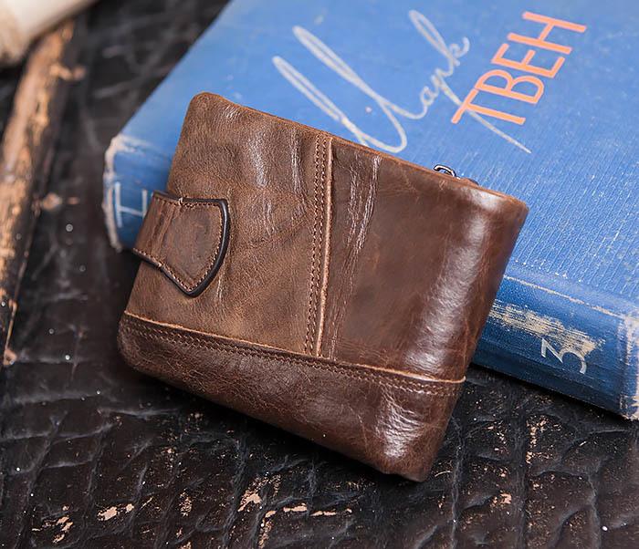WL253-2 Мужское портмоне на застежке из натуральной кожи фото 03