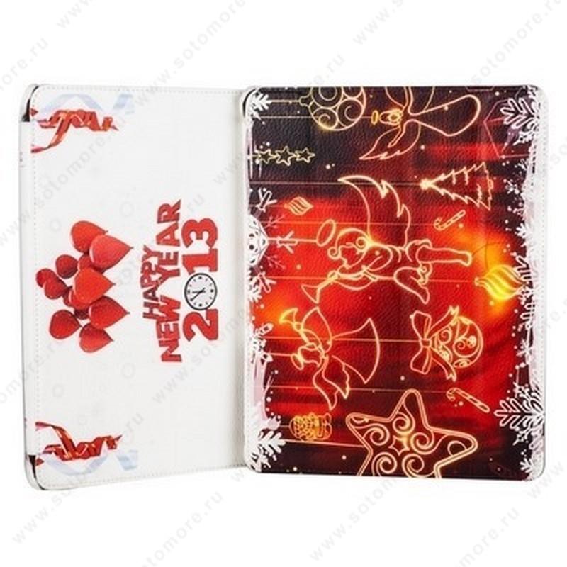Чехол-книжка Jisoncase для Apple iPad 4/ 3/ 2 с рисунком Новогодний