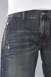 Джинсы широкие синие потертые LRG фото 6
