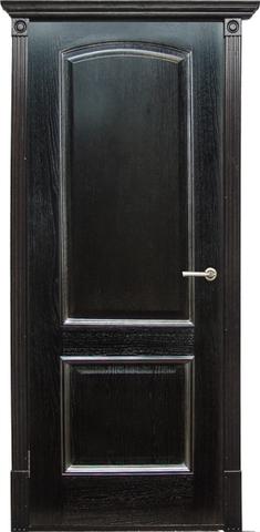 Дверь Халес Верона (черный абрикос, глухая, массив хвойных пород)