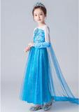Платье Эльзы с синими рукавами