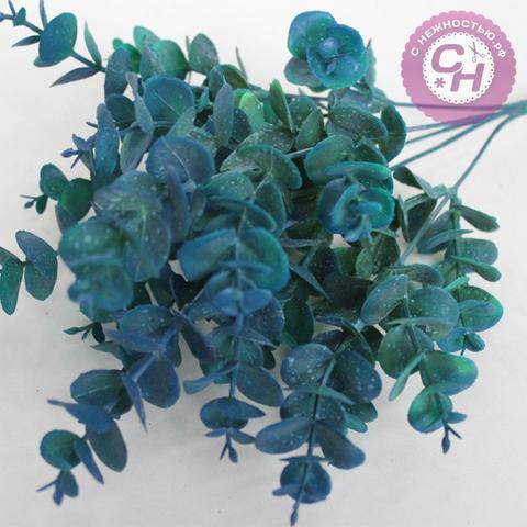 Искусственная зелень эвкалипт цветной, 5 веток, 35 см.