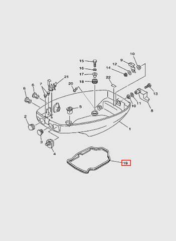 Прокладка поддона  для лодочного мотора T15, OTH 9,9 SEA-PRO (10-19)
