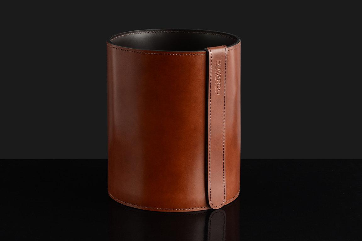Корзина D30 PREMIUM из кожи Full Grain Toscana/Cuoietto шоколад