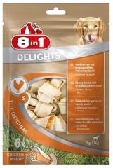 Лакомство для собак, 8in1 DELIGHTS Beef S, косточки с куриным мясом для мелких и средних собак, 11 см 6 шт (пакет)