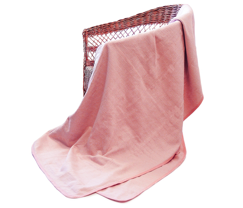 Покрывало хлопок Анкара розовый